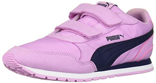 Nylon Peacoat - PUMA Unisex ST Runner NL Velcro Kids Sneaker, Orchid-Peacoat, 1.5 M US Little kid