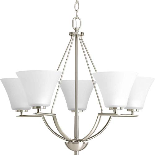 Progress Lighting P4623-09 Bravo Collection 5-Light Chandelier, Brushed Nickel