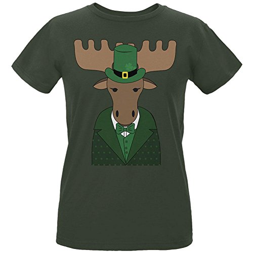 St. Patrick's Day Irish Leprechaun Moose Womens Organic