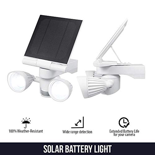 Wasserstein Blink Floodlight & Solar Panel Charger, Motion-Activated, Compatible with Blink XT & Blink XT2 Outdoor Camera Only (White)