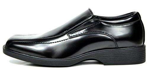 Bruno Marc Hombres Formal De Cuero Forrado Zapatos Mocasines Zapatos 5-negro Pat