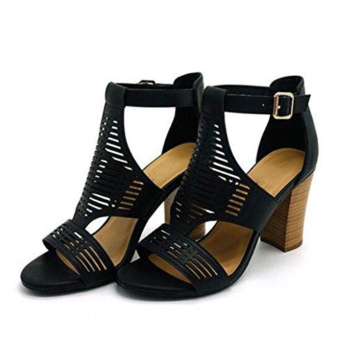 KUKI Weiblicher hohler dekorativer Sandelholze der Sandalen mit einem sexy einzelnen Schuhen , US5.5 / EU35 / UK3.5 / CN35