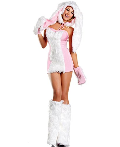 Blushing Bunny Adult Costume - (Wicked White Rabbit Adult Costumes)