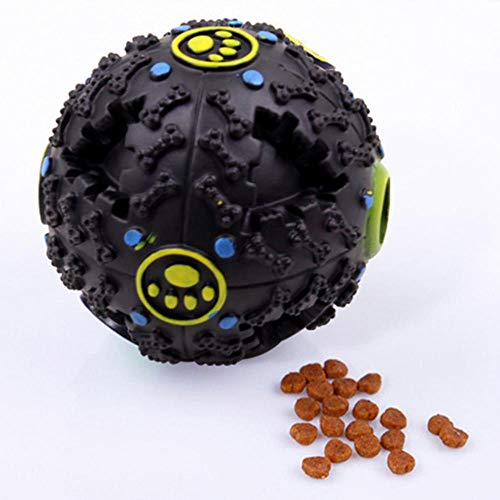 GOUSHENG Squeaky Golden Retriever Pitbull Puppy Dog Toy Ball Puzzle Training Mascotas Juguetes para Perros para Perros…