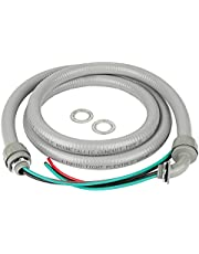 Cambridge Electrical AC Whip Kit, ½ in. Connectors, 3 10-Gauge Wires, Plastic Ends, PARENT