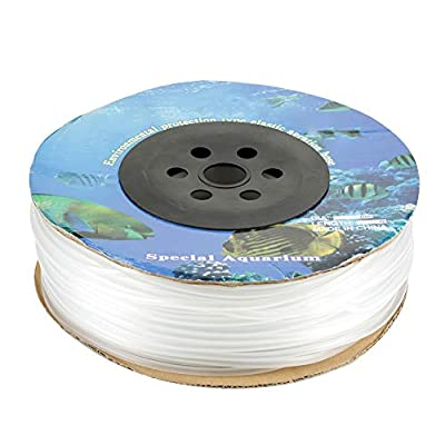 Estink Air Line Tubing, 100M Aquarium PVC Professional Durable Clear Air Line Tubing for Aquariums, Terrariums, and Hydroponics