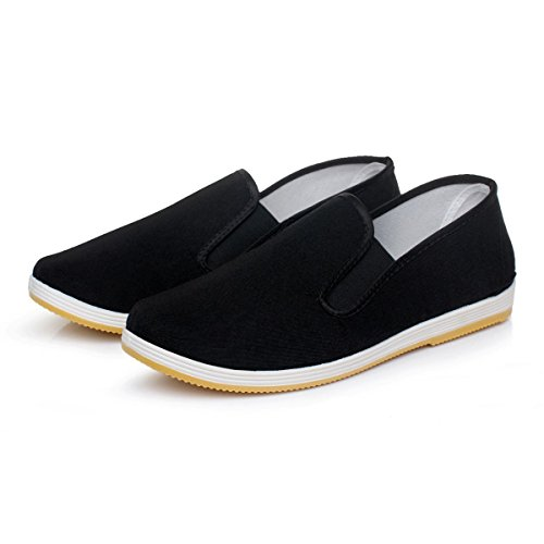 Martial Art Slip on Comfy Rubber Sole Kung Fu Tai Chi Canvas Shoes (US : Men 12)