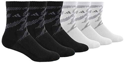adidas Kids - Boys/Girls Tiger Style Cushioned Crew Socks (6-Pair)