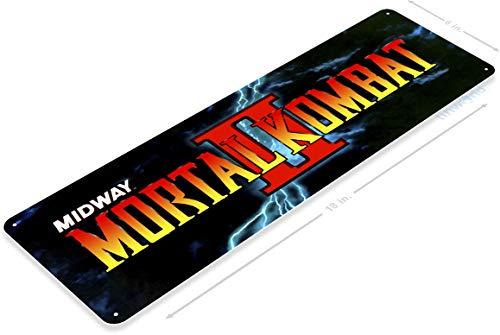 Tinworld TIN Sign A509 Mortal Kombat 2 Arcade Shop Game Room Marquee Metal Sign Retro Metal Sign Retro Console 6