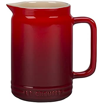 Le Creuset PG1095-2067 Stoneware Sauce Jar, 20 oz, Cerise (Cherry Red)