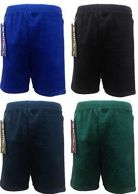 clicktostyle Unisex Red PE School Shadow Stripe PE Shorts Boys Girls Adult Football Gym Sports Short