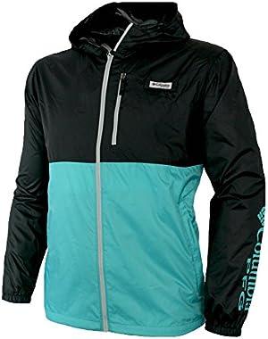 Men's PFG Morning View Omni Shade UPF 40 Hooded Full Zip Jacket Black/Green