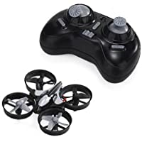Longess Flip Mini Quadcopter balance RC Drone with 2.4G 6 AXIS gyro Headless Mode Remote Control, Child Toys (Black)