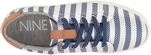 Fabric Multi White Nine Para West25032809 tela off Dark mujer Blue Pereo zczPv