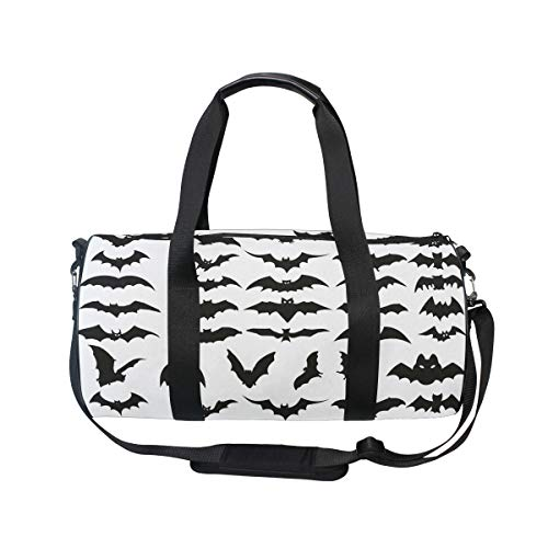 MUOOUM Halloween Bat Clip Art Sports Gym Bag