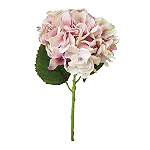 Vacally Artificial Silk Fake Flowers Peony Floral Wedding Bouquet Bridal Hydrangea Decor Birthday Party Derector (Pink) 74