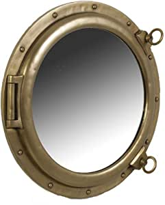 76 2 cm dia acabado de lat n antiguo ojo de buey espejo for Espejo ojo de buey