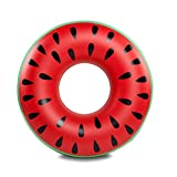 Kingswell Inflatable Pool Float Gigantic Watermelon Swimming Ring Tubes for Summer Pool or Beach Party Toy for Women Girls