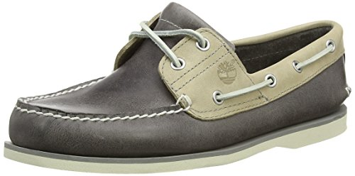 Timberland Men's Classic 2 Eye Boat Shoe, Steeple Grey Chaos/Rainy Day Chaos, 7.5 W US by Timberland