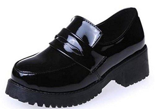 Low Shoes Girls Black Heel Lolita Shoes Women For Platform Uniform Oxford SATUKI Dress 6PA0wqUn