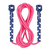 Inventiv Kids Jump Rope, Cute Colorful Designs, 9ft Adjustable Length, Quality PVC, Suitable for Children, Adults, Fitness, or Play (Hearts | Navy/Pink) Review