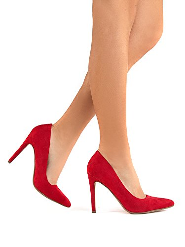 Toe Pumps Kiera Suede Adams Heel On Lipstick J Slip Pointed Classic Work High Closed FpBqxtw8
