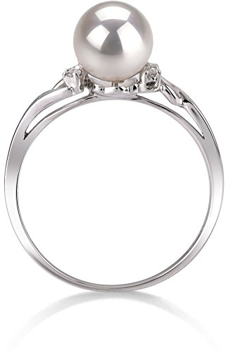 PearlsOnly - Andrea White 6-7mm AAA Quality Japanese Akoya 14K White Gold Cultured Pearl Ring - Size-6 by PearlsOnly (Image #3)