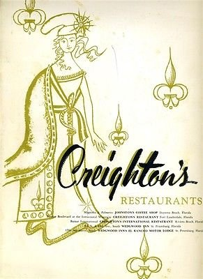Creightons Johnsons Coffee Shop Menu & Racing Trophies Daytona Beach - Beach Shops Daytona