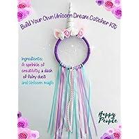 Full Size Make Your Own Unicorn Dream Catcher Kit Ribbons Kids craft DIY