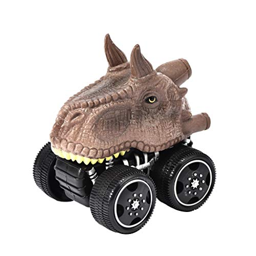 Sinwo Mini Vehicle Dinosaur Pull Back Cars with Big Tire Wheel Car Toy Creative Gifts for Kids (E)