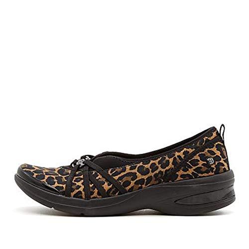 BZees Womens Rosie Leopard Closed Toe Mule 6M