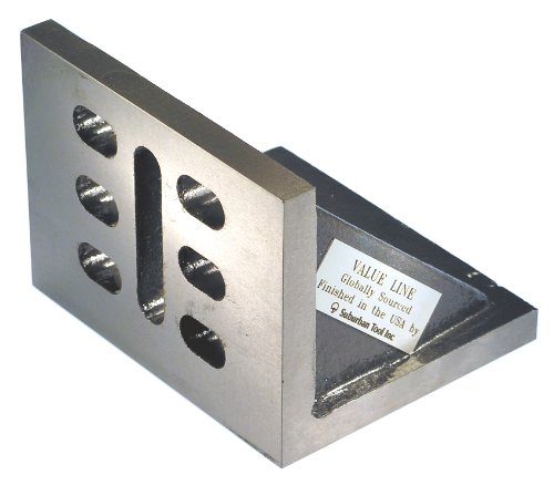 Suburban Tool Value Line Slotted Webbed Angle Plate 6x5x4 Inch Cast Iron -Ground Suburban Angle Plates