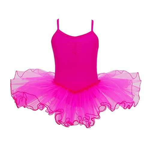 YiZYiF Child Baby Girl Sleeveless Ballet Tutu Dress Leotard Dancewear Rose 2-3