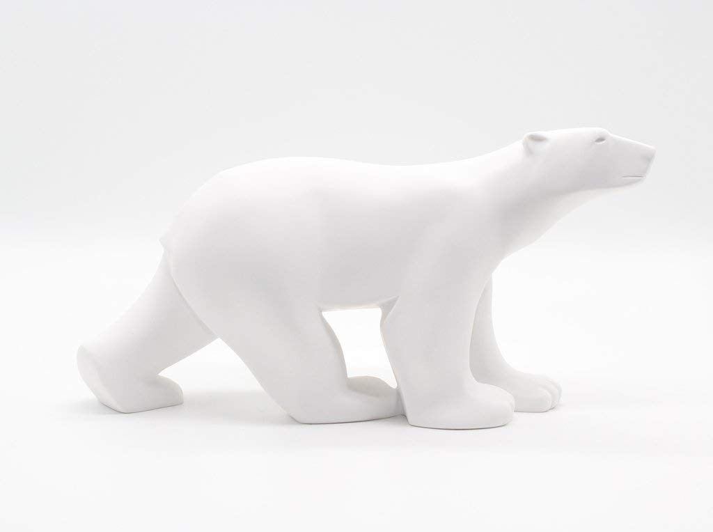 Polar Bear in Stride Ours Blanc by Francois Pompon Large by Parastone