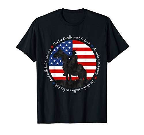 Yankee Doodle Patriotic popular American Song July 4th horse T-Shirt