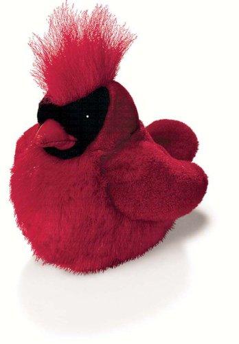 Northern Cardinal - Audubon Plush Bird (Authentic Bird Sound) (Audubon Stuffed Animals)