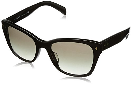 Prada PR09SSF Sunglasses 1AB0A7-56 - Black Frame, Grey Gradient - Pr Sunglasses