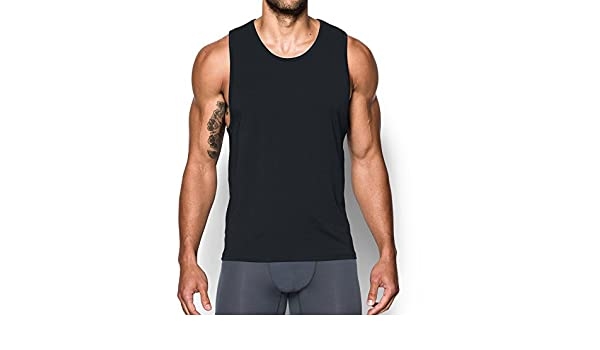 0a3812526f083 Amazon.com  Under Armour Charged Cotton Tank Undershirt – 2-Pack  Sports    Outdoors