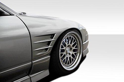 Duraflex Replacement for 1989-1994 Nissan 240SX S13 G-PR 30MM Front Fenders - 2 Piece