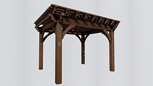 shadescape – 12 x 14 Pergola, 8000 Series pesados Kit de madera – 8 x 8 puestos, vigas