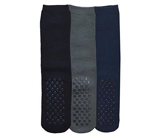 Womens Gripper Socks, Adult Non Skid Sock, Soft Cotton Slipper Socks