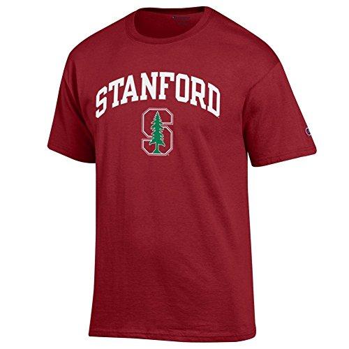 (Elite Fan Shop NCAA Stanford Cardinal Men's Team Color Arch Short Sleeve T-Shirt, Cardinal, Large)
