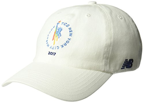 New Balance NYCM 6 Panel Curved Brim Finisher Cap, White, One Size