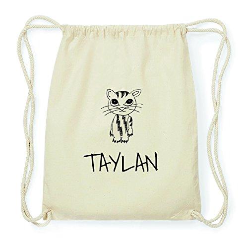 JOllipets TAYLAN Hipster Turnbeutel Tasche Rucksack aus Baumwolle Design: Katze