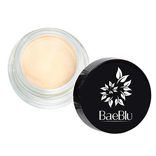BaeBlu Organic Shimmer Highlighting Cream, for Eyes or Cheeks, 100% Natural, Champagne