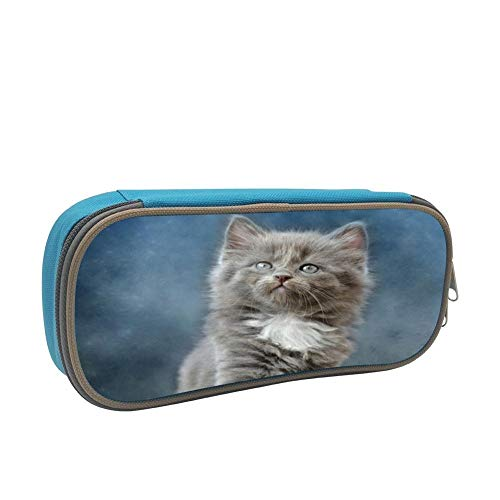 Overlooking Cat Large Capacity Multi-Layer Pencil Case Back To School Choice Blue by dreambest
