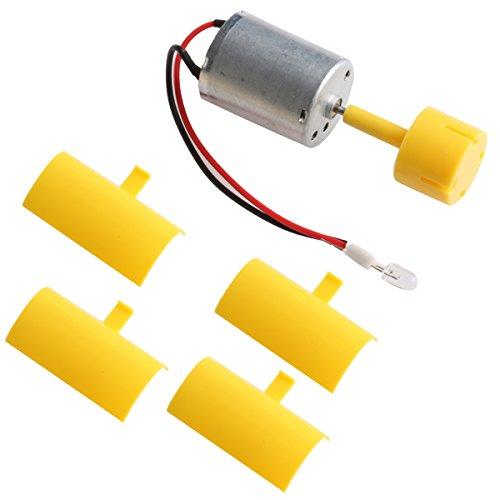 YUNAWU DC Micro Motor Small LED lights Vertical Axis Wind Turbine Generator Blades