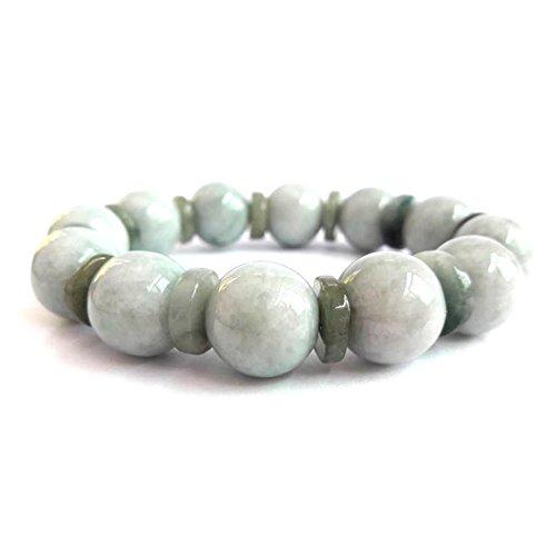 Karatgem Jewelry Multi-Style Genuine Jadeite Jade Adjustable Rope String Bracelet Bangle Beads 14mm (Style -