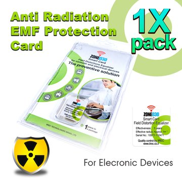 Anti-Radiation EMF Protection smartcard for cellphones. The only one with Patented Radiation Measurement Method. Tested by EUROFINS/S.I.I for Efficiency Before and After Installing.