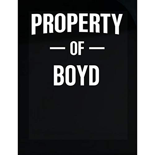 Inked Creatively Property of Boyd Gift for Her - Sticker